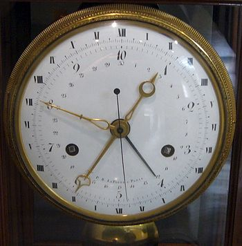 English: A clock made in Revolutionary France,...